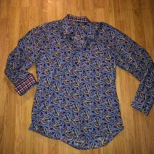 Alan Flusser Men's Size L Dress Shirt